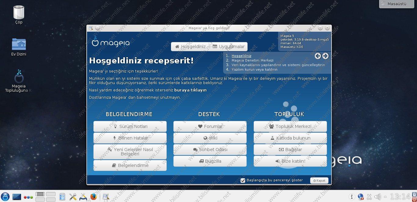 Mageia Linux Da&#287&#305t&#305m&#305